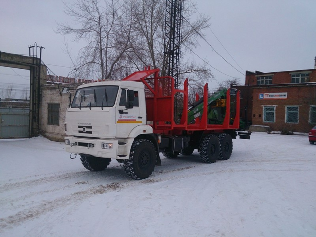 Сортиментовоз КАМАЗ 43118-46 (Евро-4) с гидроманипулятором ЛВ-185-14 в наличии и на заказ