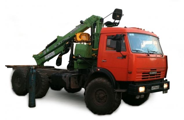 Лесовозный тягач на шасси КАМАЗ 43118 с гидроманипулятором в наличии и на заказ
