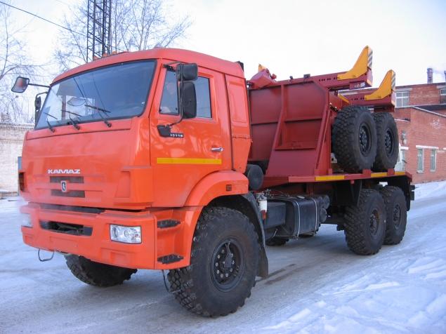 Трубоплетевоз на шасси КАМАЗ с прицепом-роспуском  в наличии и на заказ