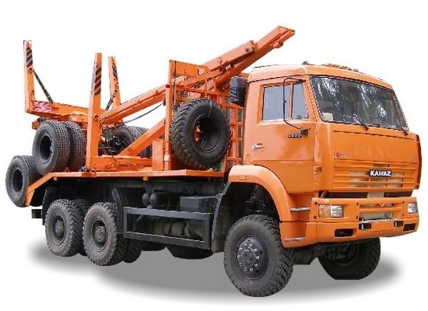 Лесовоз КАМАЗ 65225 с прицепом-роспуском в наличии и на заказ