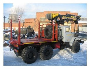 Лесовозный тягач УРАЛ 55571 c манипулятором ОМТЛ-97 в наличии и на заказ