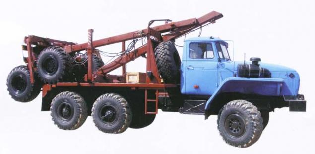 Лесовоз УРАЛ 55571-70 с самозатягиванием роспуска (Лесовозный автопоезд) в наличии и на заказ
