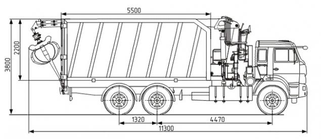 Ломовоз на шасси КАМАЗ 65115 с КМУ ОМТ-97М в наличии и на заказ