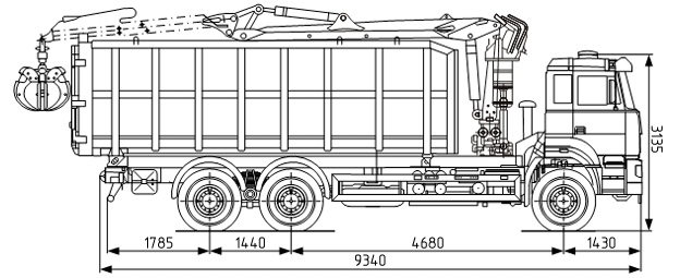 Ломовоз УРАЛ-63774 с КМУ в наличии и на заказ