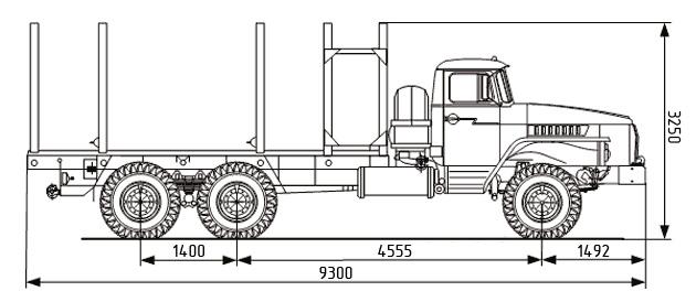 Сортиментовоз УРАЛ-4320 в наличии и на заказ