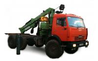 Изображение Лесовозный тягач на шасси КАМАЗ 43118 с гидроманипулятором