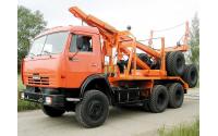 Изображение Лесовоз КАМАЗ 43118 с системой самопогрузки прицепа-роспуска
