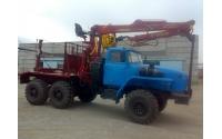 Изображение  Лесовозный тягач УРАЛ 55571 c манипулятором ОМТЛ-70.02