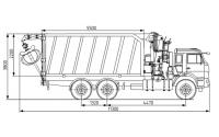 Изображение Ломовоз на шасси КАМАЗ 65115 с КМУ ОМТ-97М