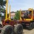 Лесовоз УРАЛ 55571-70 с прицепом-роспуском и манипулятором ОМТЛ-97 (Лесовозный автопоезд)